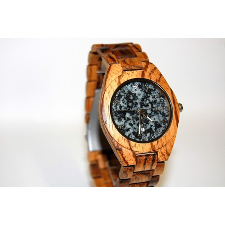 Granit Holzuhr