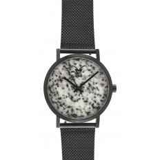 Armbanduhr Granit Edelstahl schwarz