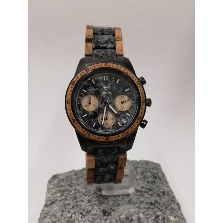Granit Holzuhr Chronograph