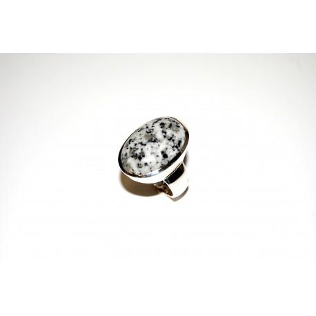 Granitring hellgrau Silber